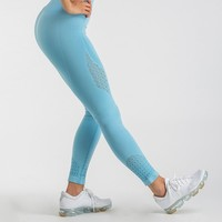 Gymshark Seamless Energy High Waisted Leggings - Sky Blue