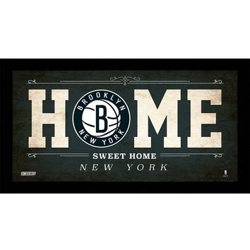 Brooklyn Nets 10x20 Home Sweet Home Sign w Game Used Net