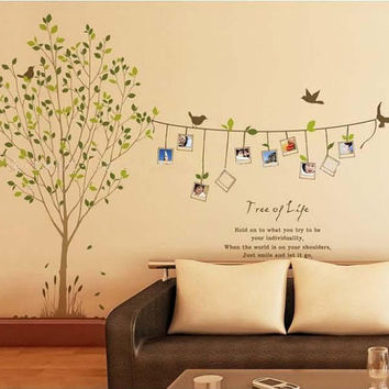 Removable Vinyl Family Photo Tree Wall Decal Wall Art Wall Sticker - Tree  of life by