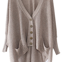 Solid Color High-Low Cardigan - OASAP.com