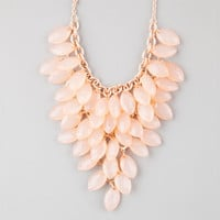 Full Tilt Shower Statement Necklace Peach One Size For Women 25147770601