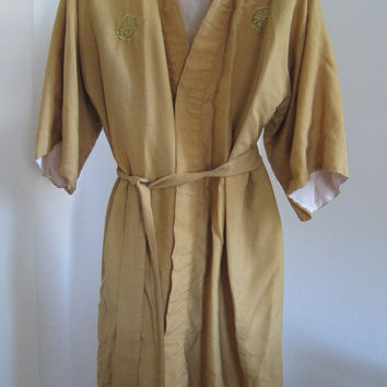 Vintage KIMONO Robe, Made in Japan, 100% Silk
