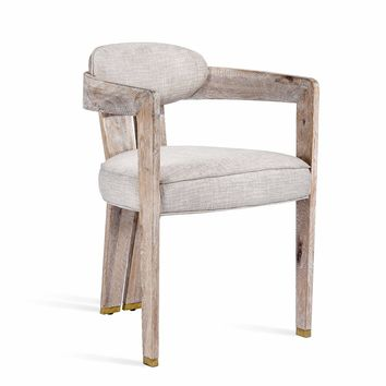 Maryl II Dining Chair in Cream Linen