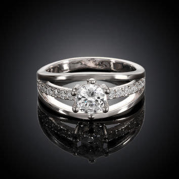 Venusian White Gold Plated Ring