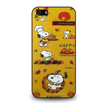 SNOOPY THE PEANUTS THANKSGIVING iPhone 5 / 5S / SE Case Cover