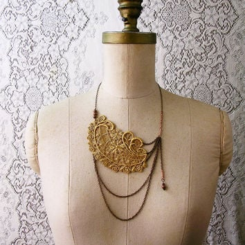 lace necklace ALTHEA by whiteowl on Etsy