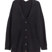 H&M - Wide-cut Wool-blend Cardigan