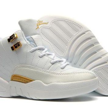 New Nike Air Jordan 12 Kids Shoes White - Beauty Ticks