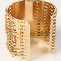 Chain Covered Cuff Bracelet