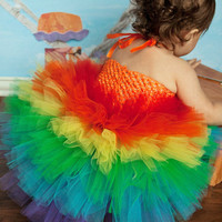 Rainbow Birthday, Rainbow Tutu, Rainbow Dress, Outift of Choice, Pageant OOC, Birthday Tutu, Carnival Tutu, Rainbow Party, Tutu Dress