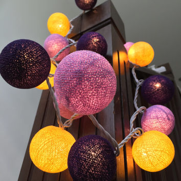 6Sets of String Lights Cotton Ball to Decorate Bed Rooms - Ship via Express MODE