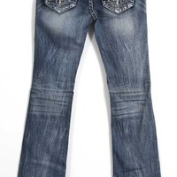 Grace in LA Jeans Bootcut with Aztec Embroidered Pockets JB51028