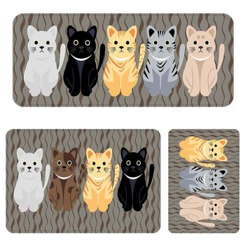 Autumn Fall welcome door mat doormat Cute Cat Family Pattern Funny s For Front Door Absorption Kitchen Mats Area Rugs For Living Room Bedroom Floor Carpets AT_76_7