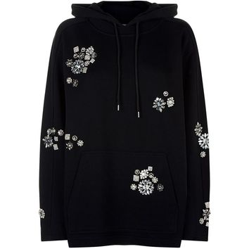McQ Alexander McQueen Relaxed-Fit Embellished Hoodie | Harrods.com
