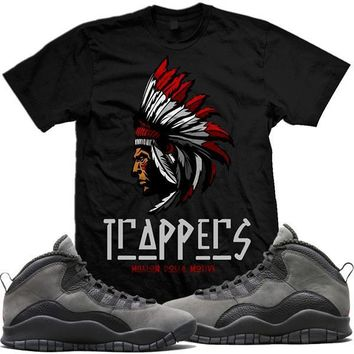 Jordan Retro 10 Shadow Sneaker Tees Shirt - TRAPPERS