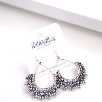 Kelly Beaded Drop Earrings, Hemitate