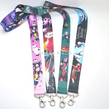 Free Shipping Nightmare Before Christmas JACK Lanyard Keys ID Cell Phone Neck Strap Toys PCXB