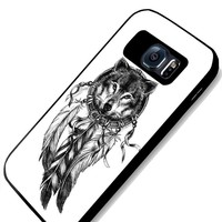 Wolf Dreamcatcher Design Samsung Galaxy S4 S5 S6 Case (samsung s6 black)
