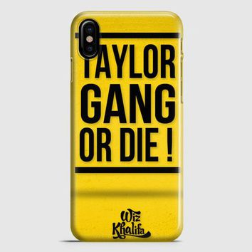 Wiz Khalifa Taylor Gang Or Die iPhone X Case