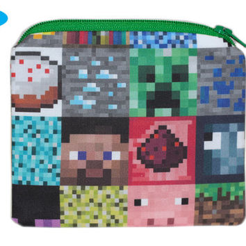 NEW Minecraft Coin Purse | Change Purse | ID Holder | Small Zipper Bag