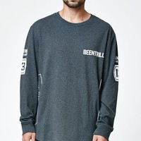 Been Trill ## Viper Drop Tail Long Sleeve T-Shirt - Mens Tee - Black