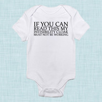 Invisibility Cloak, If You Can Read This, Funny Baby Clothes, Nerd Baby, Geek Baby