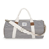 denim stripe duffle
