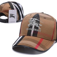 BURBERRY Women Men Embroidery Sports Sun Hat Baseball Cap Hat