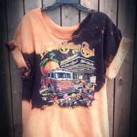 Hand Bleached, tie dyed  Allman Brothers Band shirt