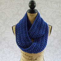 Ready To Ship Infinity Royal Blue Women's Accessory Cowl Infinity Scarf