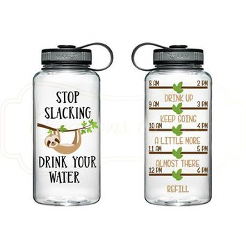 Stop Slacking like a Sloth and Drink your Water Bottle