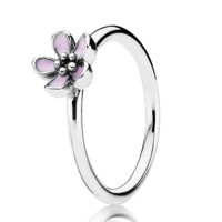 PANDORA Cherry Blossom with Pink Enamel Ring