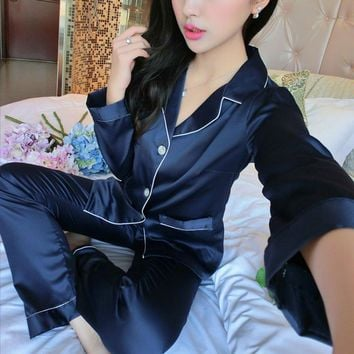 Soft Silk Satin Pajama Sets