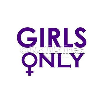 Girls Only with Female Symbol Decal