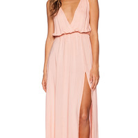 Blue Life High Tide Maxi Dress in Peach
