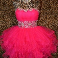 Sweetheart Mini Red prom dress / homecoming dress from Dresses 2013