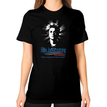 Billie joe armstrong Unisex T-Shirt (on woman)