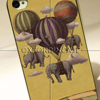 Flight Of The Elephants - for iPhone 4/4S case iPhone 5 case hard case hard cover