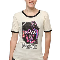 Exclusive Retro Vader Ladies' Ringer Tee - Ivory,