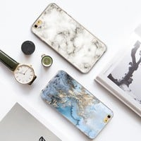 Fashionable Marbling Marble Stone Patterns Soft TPU Back Cases For iphone 6 6s 6plus 4 4s 5 5s SE 5C Phone Cases fundas