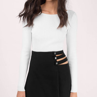 Taking Sides Mini Skirt