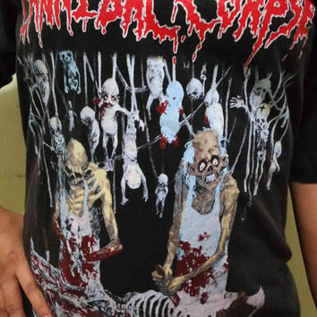 Vintage 90s Cannibal Corpse Butchered At Birth Album T Shirt
