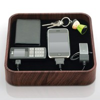Blue Lounge Design TS-01-DW The Sanctuary Charging Station - Charger - Retail Packaging - Dark Wood