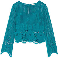 Miguelina - Alicia cropped crocheted cotton top