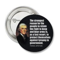 Thomas Jefferson Quote Pinback Buttons from Zazzle.com