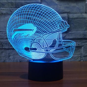 NFL Buffalo Bills 3D LED Night Light Lamp