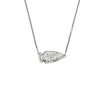 Kasey Antique Silver Pendant Necklace- Drusy | Kendra Scott