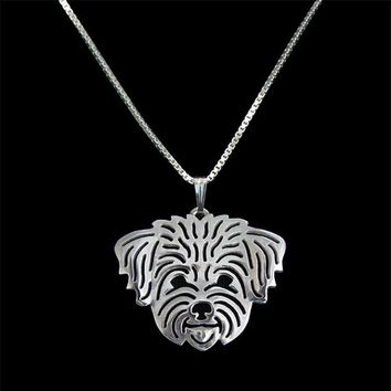 Unisex Pendant on Chain - Shih Tzu Dog - Pet Lovers Jewelry