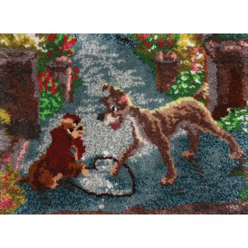"Lady And The Tramp Latch Hook Kit 27""X20"""