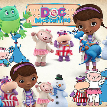 42 Doc Mcstuffins Clipart PNG Digital Graphic Image Disney Doc Mcstuffins Scrapbooking Invitation clipart INSTANT DOWNLOAD printable 300 dpi